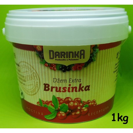 Džem Extra 1kg - Brusinka (Minimální trvanlivost 31.10.2017)