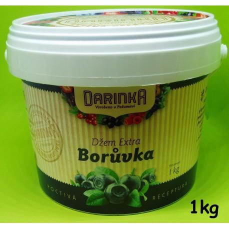 Džem Extra 1kg - Borůvka (Minimální trvanlivost 28.04.2018)