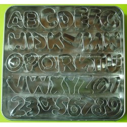 Kovová abeceda a čísla PME (AN360)