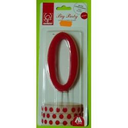 Svíčka červená (12 cm) - číslo 0