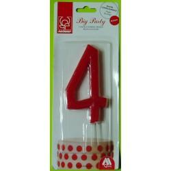 Svíčka červená (12 cm) - číslo 4