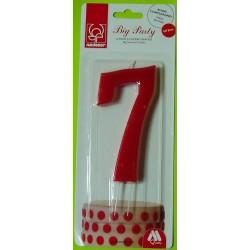 Svíčka červená (12 cm) - číslo 7