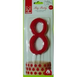Svíčka červená (12 cm) - číslo 8
