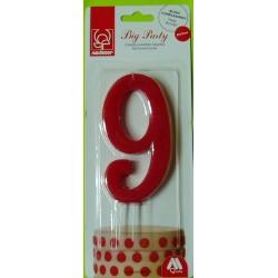 Svíčka červená (12 cm) - číslo 9