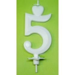 Svíčka bílá (7cm) - č.5
