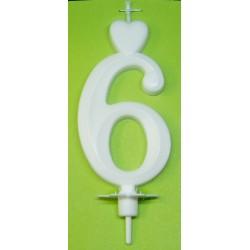 Svíčka bílá (7cm) - č.6