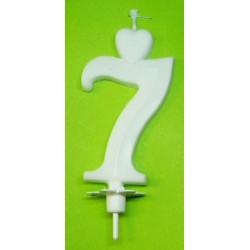 Svíčka bílá (7cm) - č.7