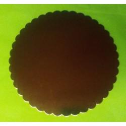 Tác kartonový zlatý  pevný - ( Ø240mm)