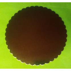Tác kartonový zlatý  pevný - ( Ø260mm)