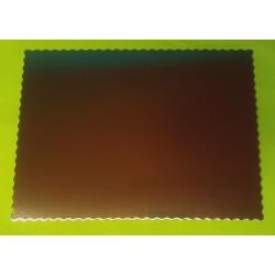 Tác kartonový zlatý pevný V - (obdelník 39x49)