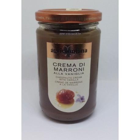 Kaštanový krém Agrimontana s vanilkou Bourbon (hladký), 350 g/sklo