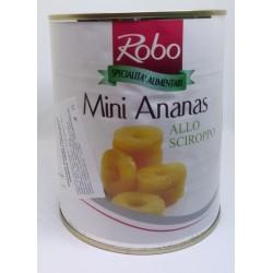 Ananas mini v mírně sladkém nálevu (kolečka)