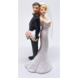 Svatební figurka Novomanželé otočení zády (PF13)