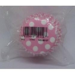 Culpitt košíčky na muffiny Světle růžové s bílými puntíky