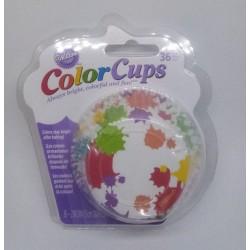 Košíčky hliníkové Wilton - Rainbow Paint