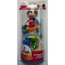 Nejedlá dekorace se svíčkami Mickey Mouse