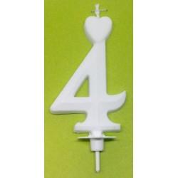 Svíčka bílá (7cm) - č.4