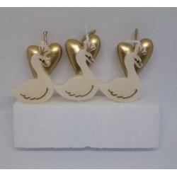 PartyDeco svíčky Srdíčka a labutě (6 ks)