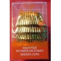 Decora alobalové košíčky na muffiny Zlaté (60 ks)