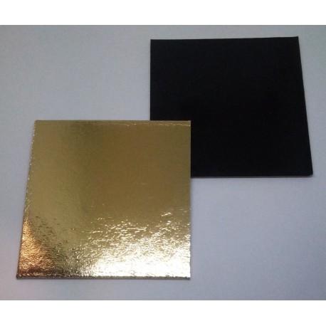 Podložka minidezert - 90x90mm (zlato-černá)