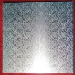 Kartonová dortová podložka silná - stříbrná (35x35)
