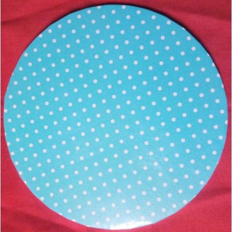Podnos silný - modrý puntikatý (30,5cm)