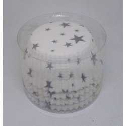 Alvarak košíčky na muffiny Bílé s hvězdami (100 ks)