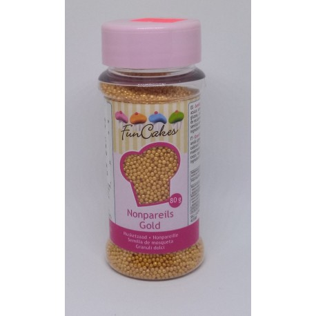 Perličky Fun Cakes - zlatý máček