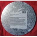 Kartonová dortová podložka silná - stříbrná (Ø20 cm)